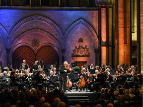 NACO plays in Salisbury Cathedral on Wednesday night, October 29, 2014. (Fred Cattroll photo)