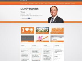 Website for NDP MP Murray Rankin.