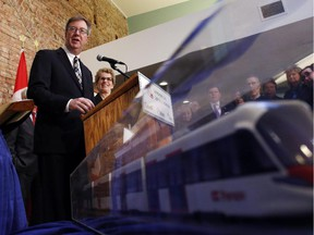 """Mayor Jim Watson argues the first phase of LRT is still """"on budget,"""" despite the extra work and costs on the Confederation Line."""