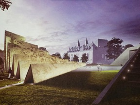 The $5.5-million Memorial to the Victims of Communism, designed by Toronto's ABSTRAKT Studio Architecture.