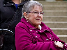 Gloria Taylor arrives at British Columbia Supreme Court in Vancouver, B.C., in this December 1, 2011 file photo.