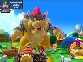 A screengrab from the new game Mario Party 10 for the WiiU.