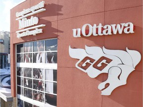 The Minto Sports Complex, home of the University of Ottawa Gee-Gees men's hockey team.
