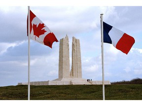 The Vimy Memorial in France.