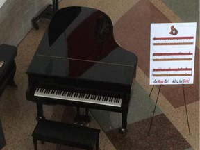 An archive picture of the public piano in the rotunda at Ottawa City Hall.