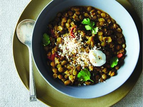Spiced braised lentils. Reprinted from Food52 Genius Recipes Copyright (c) 2015 by Kristen Miglore. Published by Ten Speed Press, a division of Random House, LLC, a Penguin Random House Company.