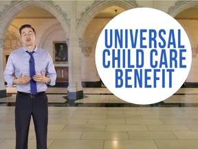 Screen grabs from YouTube videos of Employment Minister Pierre Poilievre.