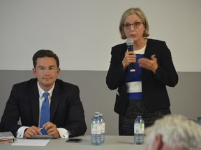 Pierre Poilievre and Deborah Coyne are among the four candidates in the new riding of Carleton.