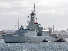 HMCS Iroquois arrives in Halifax on Oct. 23, 2008 after a six-month deployment to the Persian Gulf and Arabian Sea. The Royal Canadian Navy officially retired one of its warships today in Halifax.The destroyer HMCS Iroquois served the navy for nearly 43 years.