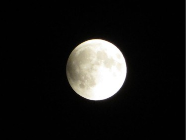 I was able to take several photos of the lunar eclipse before the clouds moved in.
