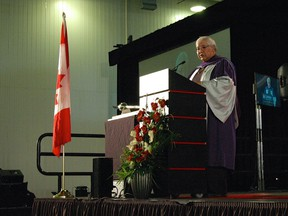 Mr. Justice Murray Sinclair addresses the Carleton convocation Saturday, Nov. 14.