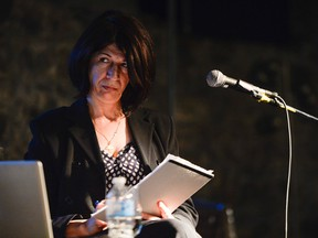 Rehab Nazzal at Saint Brigid's centre for the Arts on June 1, 2014. Nazzal reports that she was shot and wounded on the West Bank on Dec. 11, 2015. (James Park / Ottawa Citizen)