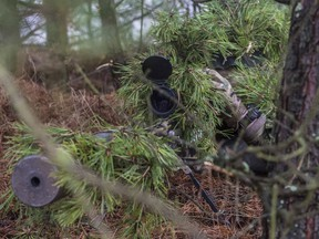 This file photo shows Canadian military snipers training. DND photo.