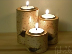Birch-look candle holders are just one of the items at the Originals show.