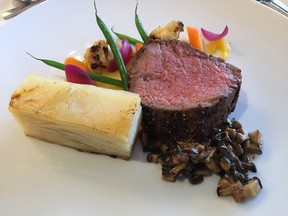 The main course at the tasting lunch for the 2016 Ottawa Viennese Winter Ball.