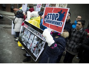 Romanian-Canadians in Ottawa demonstrate peacefully at the Royal Norwegian Embassy on Metcalfe Street to show solidarity with the Bodnariu Family who lost custody of all their children in an elleged religious dispute with the Norwegian child services department.