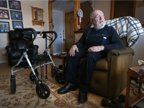 Richard, who didn't want his last name used, uses various services and products, including an elevator chair that lifts to help him stand, so that he can stay in his home rather than moving to a retirement home.