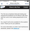 Screengrab on the Where's my Plow App Tuesday morning.