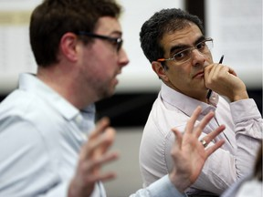 Amir Attaran, right, a professor at the University of Ottawa, told the public school board they were breaking the law with a proposal to move kindergarten children out of Elgin Street Public School to solve the overcrowding problem.