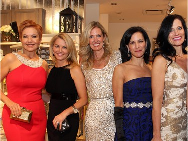From left, Shepherd's body shape and style consultant Elaine Charron with Team BFF members and volunteer models Andrea Gaunt, Melissa Shabinsky, Susan Margles, Nadine Sabine and Paula Thebarge.