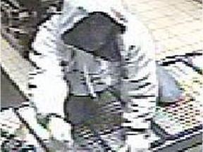 Suspect in a robbery in which a syringe was brandished as a weapon.