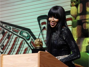 Supermodel Naomi Campbell was at the Canadian Museum of History on Saturday, March 19, 2016, to receive a Mandela Legacy Award during the 2016 Black History Month Gala.