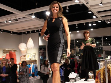 Team BFF member Paula Thebarge was part of a fashion show held at Shepherd's store in the Ottawa Train Yards shopping district, on Tuesday, March 1, 2016.