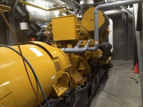 Algonquin College's new cogeneration plant, which burns natural gas to generate electricity and at the same time heat college buildings in winter or run the cooling system in summer.