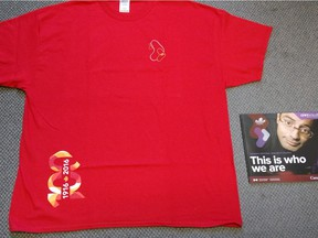 T-shirts and booklets, right, were prepared for the rebranding of the National Research Council.