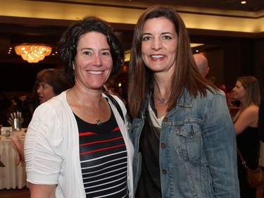 From left, co-owners Shannon McGrath and Fiona Smith Bradley of Modern Occupational Therapy Services at the 17th annual Spring into Motion charity auction and dinner, held at the St. Elias Centre on Wednesday, May 18, 2016.
