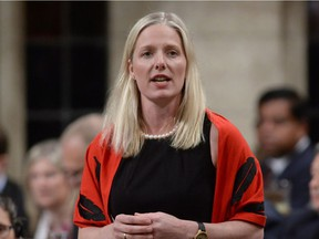 Environment Minister Catherine Mckenna answers a question during Question Period in the House of Commons on Parliament Hill in Ottawa on Thursday, May 12, 2016.