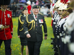 Governor General David Johnston inspected the 100-person Guard of Honour at the GG's Military Tattoo Saturday.