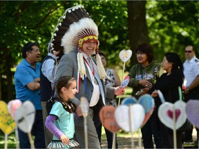 National Chief of the Assembly of First Nations Perry Bellegarde takes part in a ceremony of the Indian Residential Schools Truth and Reconciliation Commission, at Rideau Hall in 2015. The TRC made specific recommendations on health care and it's time Canada acted on them.