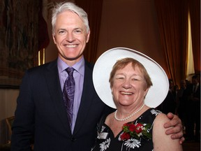 Christopher Deacon, managing director of the NAC Orchestra, seen with Martha Hynna, president of the Ottawa Symphony Orchestra board, at the annual Fête Champêtre fundraising party for the orchestra, held Thursday, June 2, 2016 at the French Embassy.