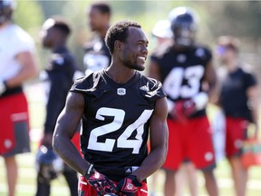 Ottawa Redblacks defensive back Jerrell Gavins was out of the lineup with an undisclosed lower body injury.