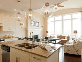 Considerable research — including feedback from current and potential clients, a look at competitors' offerings and even economic forecasts — all feed into Cardel Homes' new model lineup at Miller's Crossing in Carleton Place. The builder's trademark open design with plenty of natural light is reflected in the spacious open concept kitchen and high-ceilinged family room.