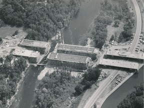 An aerial photo shows the Heron Road Bridge before it collapsed.