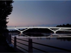 The City of Ottawa is proposing to build a $21-million pedestrian and cycling bridge over the Rideau Canal at Fifth Avenue and Clegg Street. The National Capital Commission board approved the design Monday.