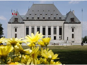 File photo of the Supreme Court of Canada.