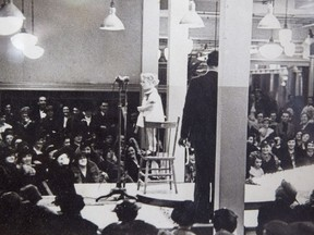 Little Patricia Tatz, 4, performing at Freiman's department store on Rideau Street in 1936.