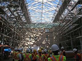 Work on the $862.9-million West Block rehabilitation project and the adjacent construction of a $129.9-million mostly subterranean Visitor Welcome Centre is proceeding apace, if an eye-opening media tour Thursday led by Public Services and Procurement Canada is any indication.