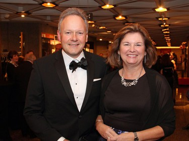 Bank of Canada Governor Stephen Poloz and his wife, Valerie, at the National Arts Centre on Saturday, October 22, 2016, for the 20th annual NAC Gala for the  National Youth and Education Trust in support of the NACís arts education programs across Canada.