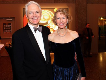 Christopher Deacon, managing director of the National Arts Centre Orchestra, with his wife, Gwen Goodier, at the the NAC on Saturday, October 22, 2016, for the 20th annual NAC Gala for the National Youth and Education Trust in support of the NACís arts education programs across Canada.