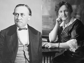 Hector Langevin and Nellie McClung - neither has an unblemished past.