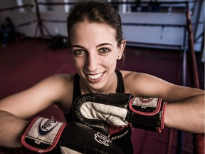 Taylor McClatchie trains at the Ottawa Academy of Martial Arts on Carling Ave Wednesday, October 5, 2016 in preparation for her trip to Italy to compete in the World Kickboxing Federation world championships in November.