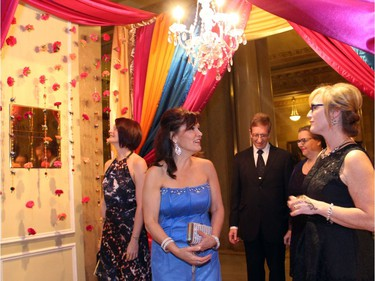 Guests arrived to the Fairmont Chateau Laurier on Saturday, November 12, 2016, to find the entrance to the Canadian Tire Snowsuit Fund Gala draped with colourful fabrics and hanging carnations for its Bollywood-themed event.