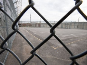 Maximum security exercise yard at the Ottawa-Carleton Detention Centre on Innes Rd. Justin Trudeau, writes Mary E. Campbell, should look at reducing sentences for prisoners.