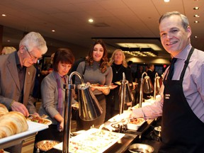 CTV Ottawa News anchor Graham Richardson was an early riser on Friday, December 9, 2016, to help out at the Christmas Cheer charity breakfast, held at The Westin Ottawa