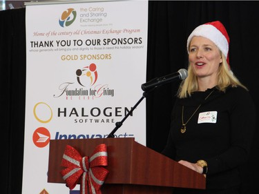 Liberal Ottawa Centre MP Catherine McKenna was among the community leaders to volunteer at the Hamper Packing Day, held at the Horticulture Building on Wednesday, December 21, 2016, in order to fill 500 food hampers for individuals and families in need this Christmas.