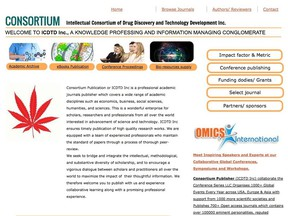 OMICS International recently acquired Intellectual Consortium of Drug Discovery & Technology Development Incorporation, of Saskatoon. A screenshot from the website is pictured here.